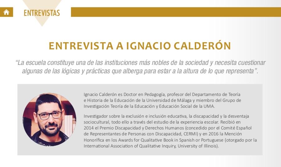 Entrevista a Ignacio Calderón